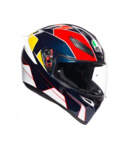 Шлем AGV K-1 Pitlane Blue/Red/Yellow в краснодаре