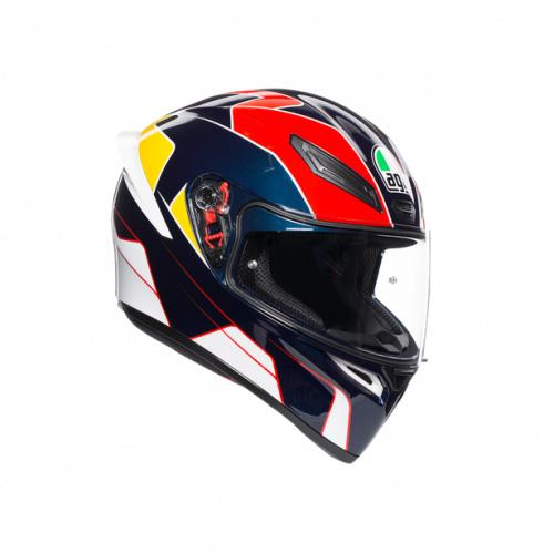 Шлем AGV K-1 Pitlane Blue/Red/Yellow в краснодаре